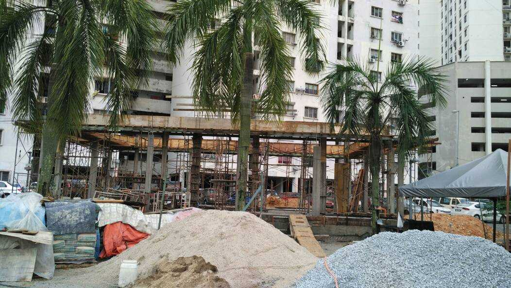 Construction of new Surau An-Nuur